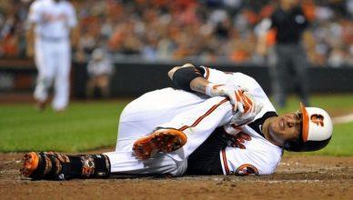 most common injury of baseball