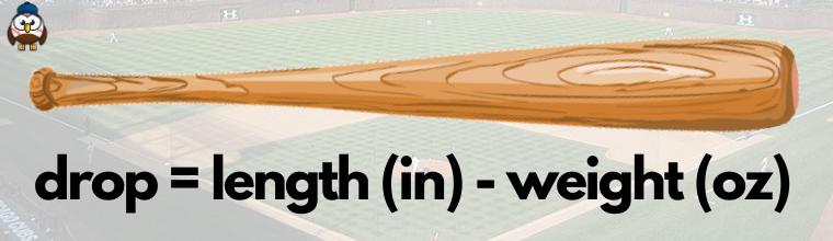 calculate baseball bat drop