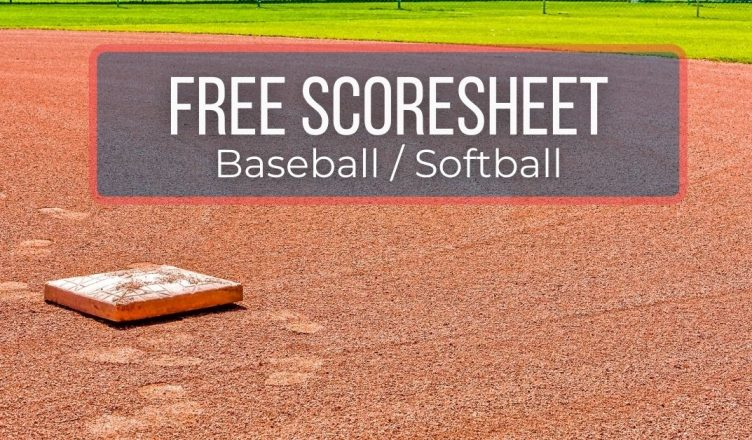 Free Baseball Scoresheet
