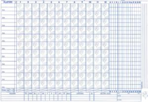 Cramer Scorebook Sheet